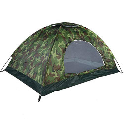 AELEX MART Military Picnic Camping Tent Portable Waterproof Easy Setup Outdoor 180T Polyester Tape 2/4/6Person (Green) (4)