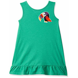 United Colors of Benetton Cotton a-line Dress (19P3096CABC2I_G42_Green_12-13 Years)