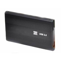 SAMZHE USB 2.0 Hard Drive SATA Portable Casing Enclosure (Black) (MST-125)