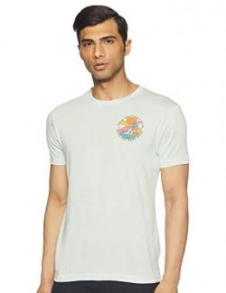 Max Men's Plain Regular fit T-Shirt (WMSP2005KTBLUE_Blue L)
