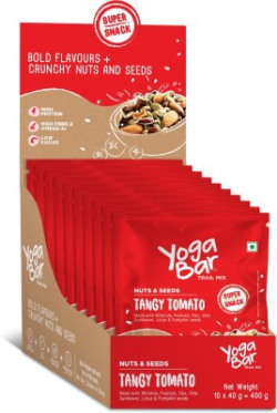 Yogabar Tangy Tomato Assorted Seeds & Nut Mix Assorted Nuts(10 x 40 g)