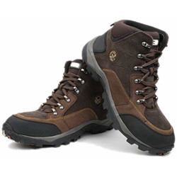 Woodland Men's Brown Leather Boots-8 UK/India (42 EU) (GB 1207112CMA)