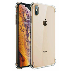 DD SON Shock Proof Protective Soft Back Case Cover for iPhone X/XS (Transparent) [Bumper Corners with Air Cushion Technology] (DDS9R4)