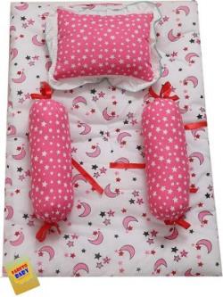 Fareto Cotton Bedding Set(Pink, White)