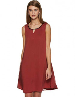 Being Human Modal A-Line Dress (BHWDR7001_Maroon_87 cm/M)