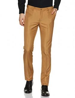 Amazon Brand - Arthur Harvey Men's Slim Fit Dress Pants (AH-SS20-MFT-005_Khaki_30)