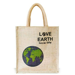 Sangra LOVE EARTH Printed Tote Bag ( Multicolour )