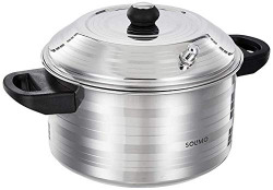 Amazon Brand - Solimo Stainless Steel Idli Maker, Induction Base, 4 Plates
