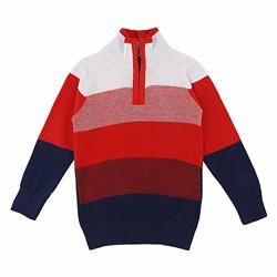 Gubbarey Boy's Cotton Sweater (GB_FL_2018_Red_2-3 Years)