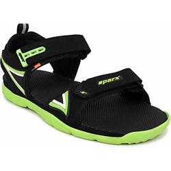 Sparx Men Black Fl. Green Floaters-8 UK (42 EU) (SS0473G_BKFG0008)