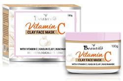 Beautilo Vitamin C Face Mask With Vitamin C, Kaolin Clay & Niacinamide For Skin Illumination, 100 g