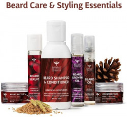 BOMBAY SHAVING COMPANY Beard Kit for Cleansing, Growth, Conditioning & Styling   Gift Kit with Nourishing Oils, Moustache Wax, Beard Butter, Beard Shampoo & Serum(6 Items in the set)