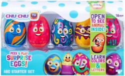 Peek & Play Surprise Eggs CHU CHU TV Surprise Eggs by Chuchu TV: ABC Starter Set for 18 month and above(Multicolor)