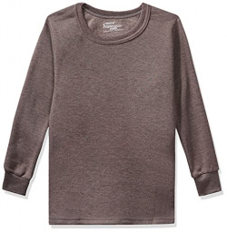 Rupa Thermocot Boys' Plain Cotton Thermal Top (AGNIKIDSRNFS_Brown_55)