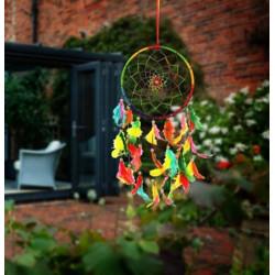 ILU Dream catcher Handmade Beaded Circular Net Decoration Ornament Size 16 CM Diameter Wool Dream Catcher(20 inch, Multicolor)