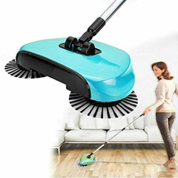 Nilkamal All in One 360° Sweep Drag Multi-Functional Broom Machine for Home and Office, Medium, Multicolour
