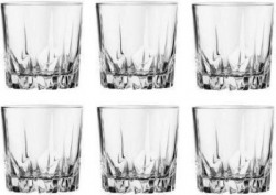 Sygmos (Pack of 6) Whisky Tumbler, Party Glass, Non Lead Crystal Glass set Glass Set(300 ml, Glass)