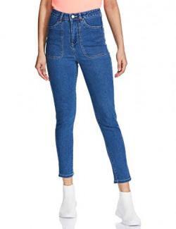 AKA CHIC Women's Skinny Fit Jeans (AKCB 1464 B_Mid Blue_28)