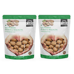 WONDERLAND FOODS Premium California in-Shell Walnuts 2 kg (Akhrot with Shells Jumbo Size)