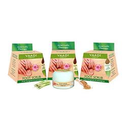 Vaadi Herbals Value Foot Scrub with Fenugreek and Lemongrass Oil, 30gmsx3