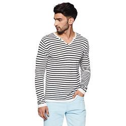 Celio Men's Cotton Sweater (3596654596459_Off White_Small)