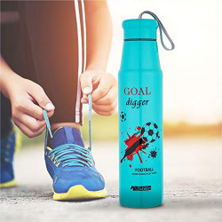 DUBBLIN My Tube Premium Stainless Steel Double Wall Vacuum Insulated BPA Free Water Bottle, Sports Thermos Flask Keeps Hot 12 Hours, Cold 24 Hours (Sky Blue 800 ML)