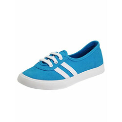 SOLETHREADS Sydney   Cute   Trendy   Canvas Sneakers   Shoes for Women Blue