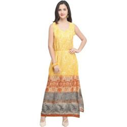 Urban Fashion Bank Women Maxi Yellow Dress