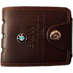 loscco Men Casual Brown Artificial Leather Wallet(6 Card Slots)