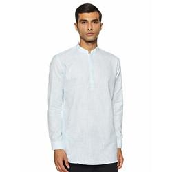 Integriti Men's cotton Kurta (CSL-SK-3116_ Sky Blue_ Small)