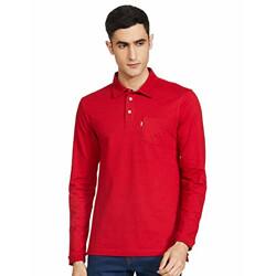 Amazon Brand - Inkast Denim Co. Men's Solid Regular fit Polo (INPK-21_Crescent Red XL)