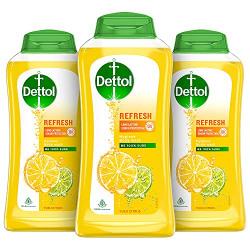 Dettol Body Wash and Shower Gel, Refresh - 250ml Each (Buy 2 Get 1 Free)