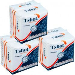 Tshot PRIME Pack Soft Tissue Paper Napkin(Premium Quality) (Pack OF 3) (300-Napkins)(300 Tissues)