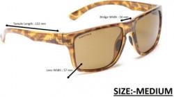 Fastrack Retro Square Sunglasses(For Men, Brown)
