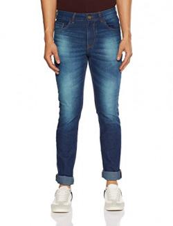 Diverse Men's Skinny Fit Stretchable Jeans (DVD01D3L02-9b-30_Indigo Blue)