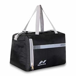 Nivia Enfold-02 Gym Bag Black - Grey