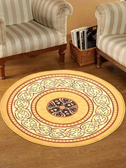 Status Interieur Nylon Floor Round Carpet Mats for Living Room, Dining Room, Bathroom, Hall with Anti Skid Backing (30 x 30 inches)