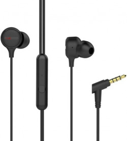 boAt Bassheads 103 Black Wired Headset(Black, In the Ear)