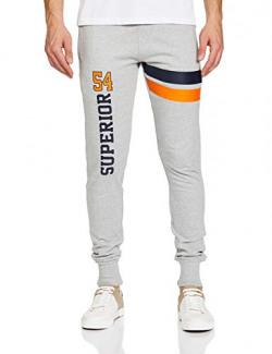 T2F Men's Boyfriend Slim Track Pants (MNS-JOG-01_Grey_Small)