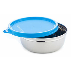 Signoraware Serving Bowl Stainless Steel with Lid, 200 ml, Blue