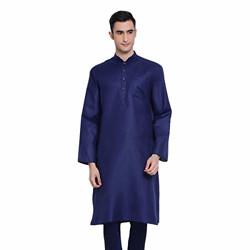 Sanwara Men's Cotton Kurta (SY_SK_2808_Deep Blue_L)
