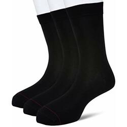 Amazon Brand - Symbol Men's Cotton Calf Socks (Pack of 3) (SYMSCKNS031_Multicoloured_one Size)
