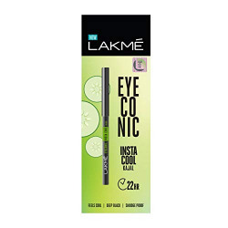 Lakme Eyeconic Insta Cool Kajal, Black, 0.35 g