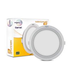 Wipro D711560 Garnet 15-Watt Wave Slim Panel Light (Cool day Light, White, Round)