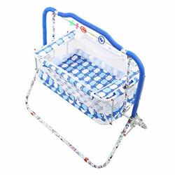 VParents Cozy Baby Crib Bassinet cot Swing Cradle (Blue)