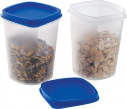 MASTER COOK  - 500 ml Polypropylene Fridge Container(Pack of 2, Clear, Blue)