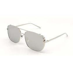 LOUIS KOUROS Retro Square Sunglasses(For Men & Women, Silver)