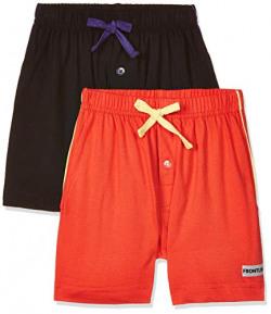 Rupa Frontline Kids Boy's Plain (Pack of 2) (Kidz Ninja PKT Boxer PLN 2P_Assorted_55)