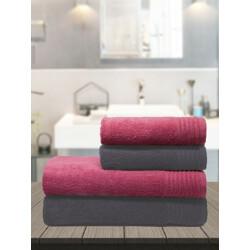 TRIDENT Cotton 380 GSM Bath Towel Set(Pack of 4)