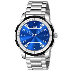 hamt Fashion Analogue Men's Watch(Blue Dial & Silver Colored Strap)-HT-GR810-BLU-CH